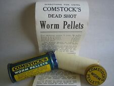 RARE VINTAGE Comstock's Worm Pellets Quackery FULL