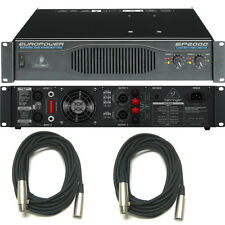 Behringer Europower EP2000 Professional Stereo Power Amp (2 Free XLR Cables)