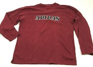 VINTAGE Adidas Sweater Men's Size Extra Large XL Maroon Red Pullover Stitched