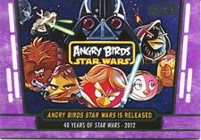 Star Wars 40th Anniversary Purple Base Card #96 Angry Birds Star Wars is Rele