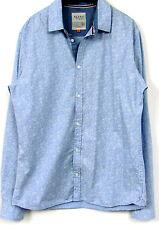 NUEVO Camisa de manga larga para hombre azul claro Estructura ejemplar Único