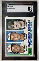 1982 Topps #21 Cal Ripken Jr. Baltimore Orioles SGC 8 NM-MT RC Rookie Card