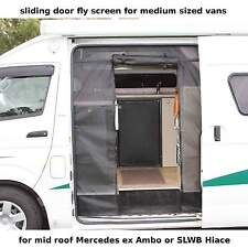 sliding door fly screen RV Camper medium vans SLWB Hiace or Sprinter mid roof