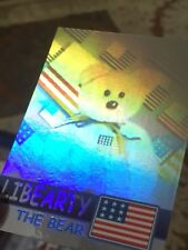 Ty Beanie Babies Trading Card Libearty The Bear Hologram, Series 2