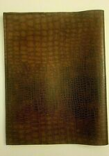 Book Cover Light Brown FAUX LEATHER 9