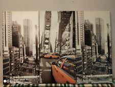 "Tall Vertical 3 Piece Hanging Wall Art Canvas Print Set Of New York 40"" X 20"""