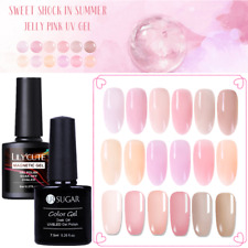 Jelly  UV Gel Nail Polish Soak Off Semi-transparent Gel Nails  DIY