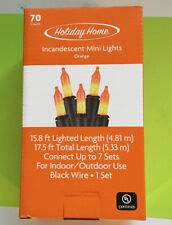 *NEW* HOLIDAY HOME-70 ORANGE MINI LIGHTS-17.5 Ft.-INCANDESCENT-FREE SHIPPING*
