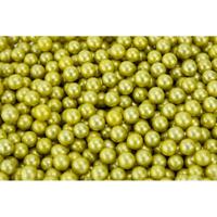 100G 8mm METALLIC GOLD EDIBLE CACHOUS PEARLS