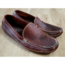 Duluth Trading Co Mens Shoes Size 11 Bison Leather Driving Moccasins Brown