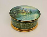Thomas Kinkade Lamplight Village Music Box - Moonlight Lane 1999 VGC