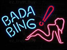 "New Bada Bing Girl Bar Decor Light Lamp Neon Sign 20""x16"""