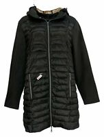 Nuage Women's Sz L Quilted Jacket W/ Removable Hood Black A369056