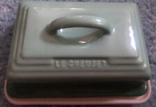 NEW LE CREUSET Deluxe BUTTER DISH Fennel Rosemary Emerald Green Retired Last One