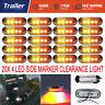 20X Caravan 4-LED SIDE MARKER CLEARANCE LIGHTS TRAILER TRUCK 12V 24V - RED AMBER