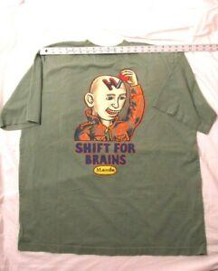 MAMBO Made in Australia Shift for Brains Green Tee Shirt 2 XL XXL