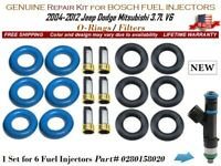 1 Repair Kit NEW for 6 Fuel Injectors OEM BOSCH #0280158020 Filters/O-Rings