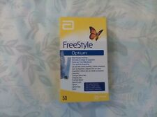 FreeStyle Optium Blood Glucose Test Strips - Box of 50 X3 REDUCED