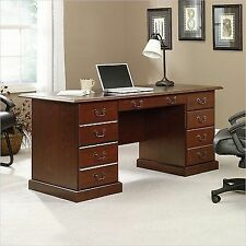 sauder heritage hill classic cherry executive desk 402159
