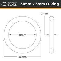 31x3 Nitrile (NBR) O-rings - 31mm Inner Diameter x 3mm Cross Section (37mm OD)