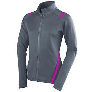 Augusta Sportswear Girls Freedom Jacket, Large, Graphite/Power Pink