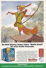 X0097 Robin Hood - Walt Disney Home Video - Pubblicità 1992 - Vintage Advert
