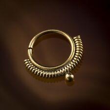 Madhavi Spiral Wire Brass Septum Ring for Pierced Nose - 1mm (18g) (Code 39)