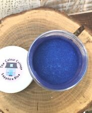 Mica Powder 1/2 oz Jar Sapphire Blue Shimmer Pigment for Epoxy Resin, Cosmetics