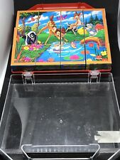 Vintage Disney Bambi Block Puzzle Children's Toy Game 6 Sided Puzzles