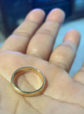 gold wedding ring 14k solid yellow