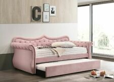 Acme Furniture Adkins Pink Velvet Daybed and Trundle