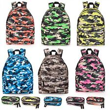 El Charro Camo PREMIUM Backpack Rucksack Ladies Boys School Work Bag Multicolour