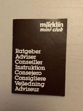 Märklin Mini Club Instruction Guide For Transformers (guide Only)