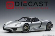 Porsche 918 Spyder Year 2013 Silver 1 12 AUTOart