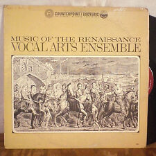 Vocal Arts Ensemble Music of the Renaissance LP Counterpoint / Esoteric EX