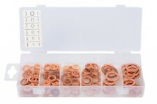 110 Pieces Washers Solid Copper Sump Plug Assorted Garage Engine Washer Set
