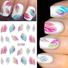 Hermoso Pegatinas Uñas Plumas Manicura Calcomanías Nail Art Para Mujer
