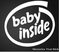 BABY INSIDE Funny Car Window Bumper JDM VW VAG EURO Vinyl Decal Sticker