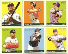 Lot of 200 2009 Goudey  MINI Set of #'s 1-200