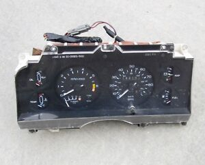 INSTRUMENT CLUSTER, electronic, used, 1987 Ford Thunderbird Turbo Coupe, '83-'88