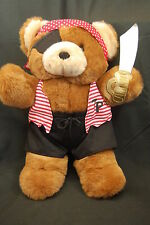 "Teddy Precious Bear Pirate Eye Patch Sword Brown Red Black Dan Dee Plush 16"" Toy"