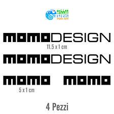 4 Adesivo MOMO Design tuning auto decal sticker pegatina