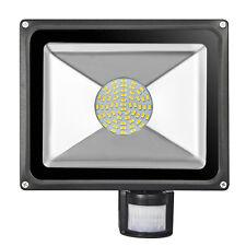 50W LED SMD mit Bewegungsmelder Außen Strahler Fluter Warmweiβ Flutlicht IP65