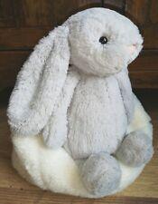 JellyCat Medio Gris despego Bunny con ex.