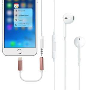 Lightning Plug to Jack Socket Headphones Adapter for IPHONE IPAD Ku