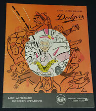 1965 LOS ANGELES DODGERS / NEW YORK MET MLB OFFICIAL SCORECARD PROGRAM ORIGINAL