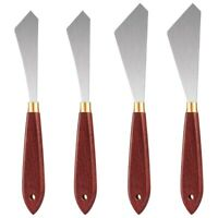 4Pcs Painting Knife Set Painting Mixing Scraper Stainless Steel Palette KniP6H9