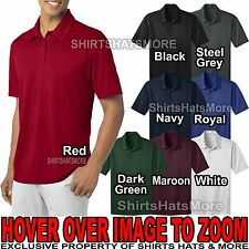 Mens Dri Fit Polo Shirt Performance Moisture Wicking XS, S, M, L, XL, 2X, 3X, 4X