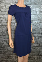 Women's Short Sleeved Dark Blue Cotton Round Neck T-Shirt Dress Size 6 / 8