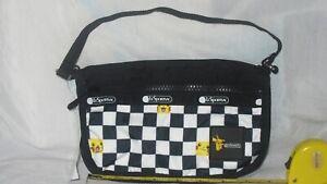 MIP Lesportsac Pokemon Pikachu Check Pocket Classic Pouchette  NWT 3454 G694 MIB